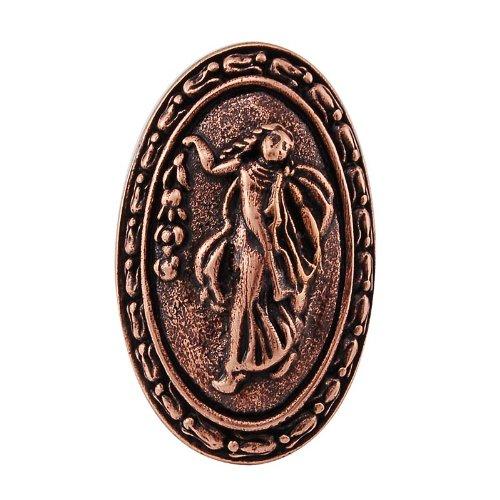 Vicenza Designs K1030P Sforza Small Base Woman Oval Knob, Large, Antique Copper