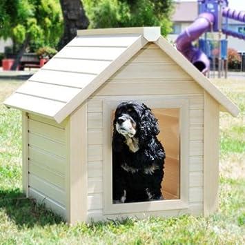 ECO friendly BUNKHOUSE - en madera apariencia de caseta de perro doble, resistente a la intemperie y Tejado - Prueba de Humedad y fácil de limpiar: ...
