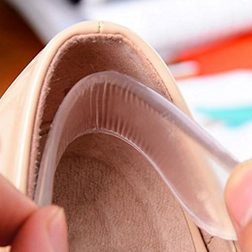 ungfu centro comercial de silicona transparente Invisible Heel Pad Shoe Anti-slip Pad