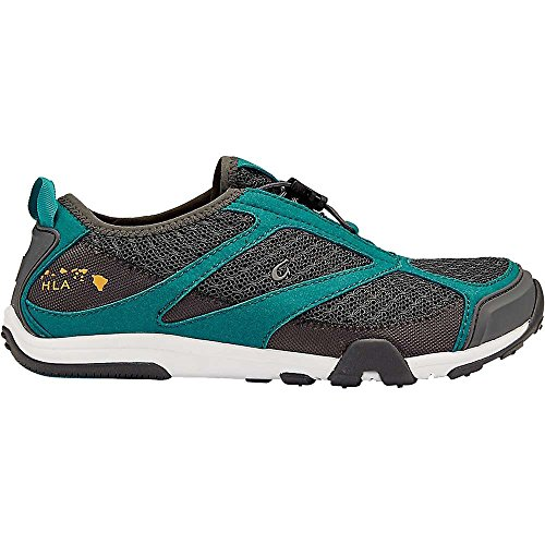 OLUKAI Eleu Trainer Shoe - Women's Dark Shadow/Teal 10