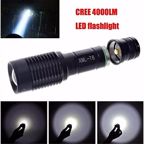 Zoomable 4000LM XML T6 LED Flashlight 3 Modes Bronze Torch Lamp Waterproof 18650