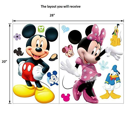 Mickey Minnie Mouse Kids Room Decor Wall Sticker Cartoon Mural Decal Home 1pc 2