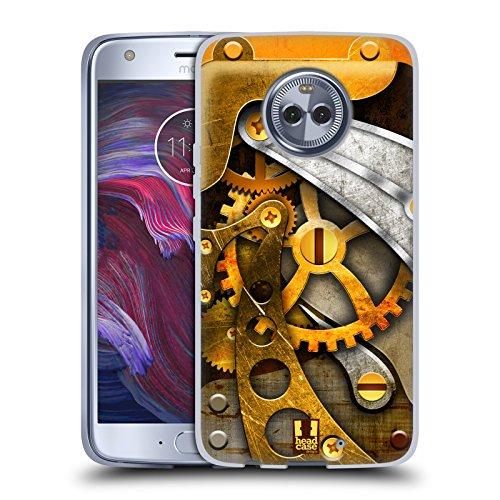 Head Case Gears - Head Case Designs Gears Steampunked Soft Gel Case for Motorola Moto X4