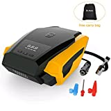 Auto Shut-Off 12v Car Tire Inflator Air Compressor Pump 150PSI, Preset Tire Pressure with Emergency Flashlight, 3 Air Nozzle for Ball/Bike/Airbed/Motorcycle by Dr.Auto