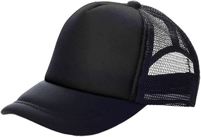 Youth 2 Tone Mesh Curved Bill Trucker Cap Snapback Opromo Kids 16 Colors