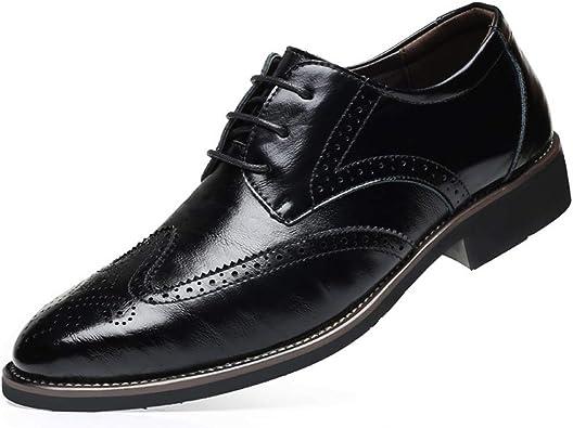 Mens Fashion Leather Shoes Wedding Oxfords Platform Dress Formal British Casual