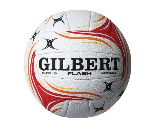 Gilbert Ballon Match de Netball Flash - Blanc/Rouge 8688180