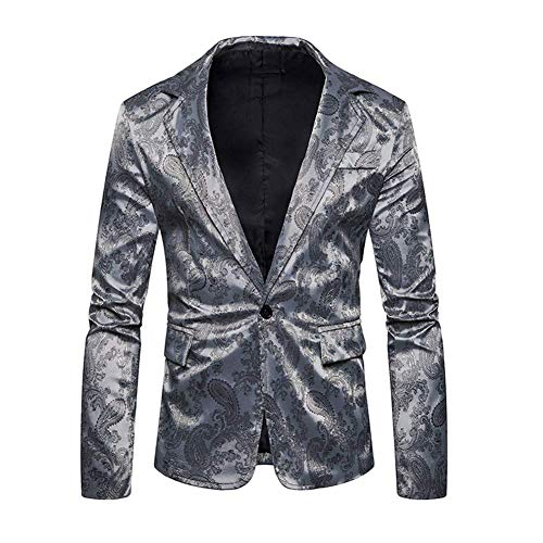 Élégant Moderne Costume Tuxedo Fit Gris Homme Manteau Mariage Vintage Slim Blazer Manches Hellgrau Longues Casua À Jacket Cocktail Men's Veste qt0wOIn
