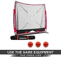 Rukket 5x5 Baseball /& Softball Net Pitching Strike Zone Target Practice Hitting Batting and Catching Backstop Screen Equipment Training Aids