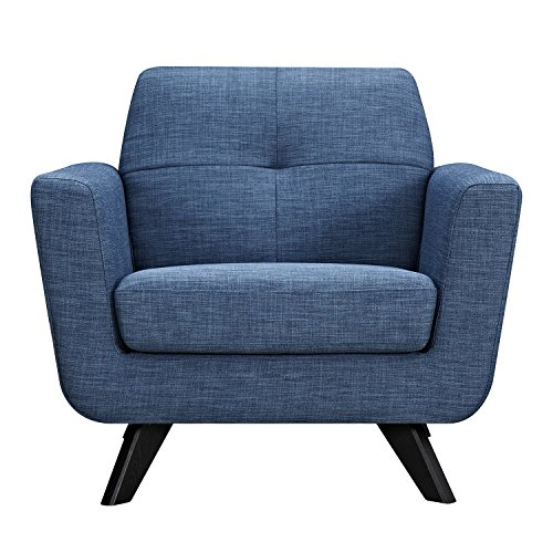 NyeKoncept 224470-C Stone Blue Dania Armchair, Black from NyeKoncept