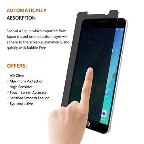 Samsung Galaxy Note 5 Screen Protector, Joylink Mirror Tempered Glass Anti Spy Privacy Screen Protector,9H Hardness,Ultra-thin 0.33mm,High Defintion Clear,Explosion-Proof,Anti Scratch Shatter,Black Photo #6