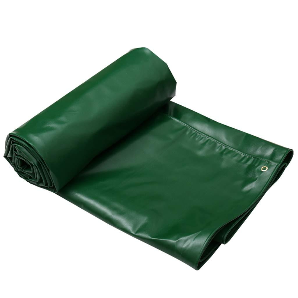 WSGZH Wasserdichte Schwerlastplane, Grün - 100% Wasserdicht Und UV-Besteändig, Dicke 0,6 Mm, 8 Größenoptionen