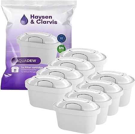 haysen & clarvis Cartuchos de filtro de agua compatible con BRITA Maxtra, PearlCo, BWT, Dafi, – AmazonBasics, 8 unidades: Amazon.es: Hogar