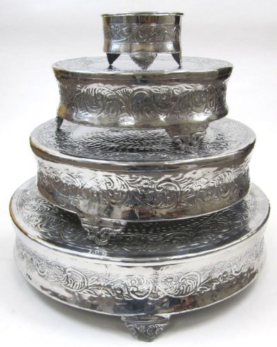 Round - Four-Tiered Cake Stand - Decorating Parties Cake Stand by HANDMADE BY ARTISAN (Image #1)