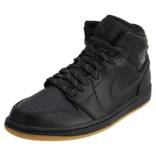 Jordan Air 1 Mid Winterized Men's Shoes Black/Anthracite-Gum Yellow aa3992-002 (11 D(M) US) by Jordan