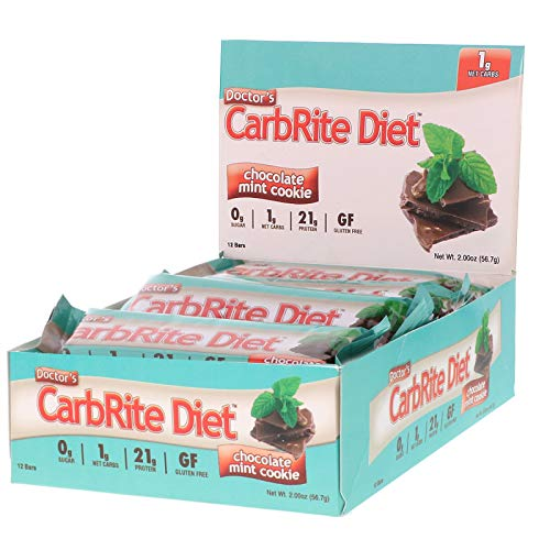 Universal Nutrition Doctor s CarbRite Diet Sugar Free Bar Chocolate Mint Cookie 12 Bars 2 00 oz 56 7 g Each (Diet Chocolate Carbrite Doctors)