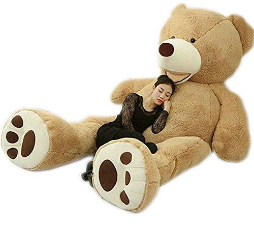 [Giant Teddy Bear Stuffed Big Bears With Big Footprints Plush Toys Light Brown (8.5 feet)] (Giant Tooth Costumes)