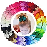 Accessories Girls Best Deals - Coxeer 40Pcs/Pack Ribbon Hair Bows Clips Hairpin Hair Accessories for Baby Girls Kids Teens Toddlers Children