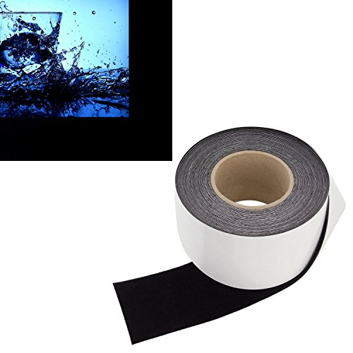 3 in x 30 ft - Vibrancy Enhancing Projector Felt Tape Border - by ConClarity - Deepest Black Ultra High Contrast Felt Tape for DIY Projector Screen Borders Absorbs Light, Brightens Image & Stops Bleed