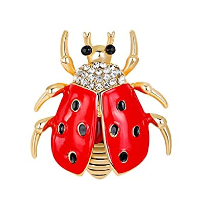 Nice Women Fasdhion Refined Creative Brooches Girls Lovely Ladybug Breastpin for Women Girls' Perfect Christmas Gifts hot sale