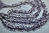 10mm 30 Beads Superfine Eye Clean Quality-Natural Pink Amethyst Faceted Tear Drop Briolette Beads