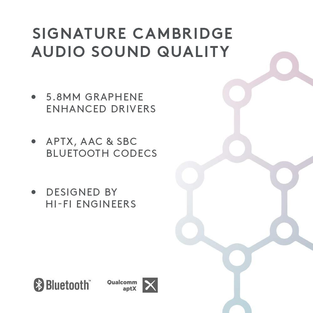 Cambridge Audio Melomania 1 True Wireless In-Ear Monitors - 45 Hours  Battery Life, Bluetooth 5 0 Earphones, aptX & AAC, IPX5 Water Resistant,  Graphene