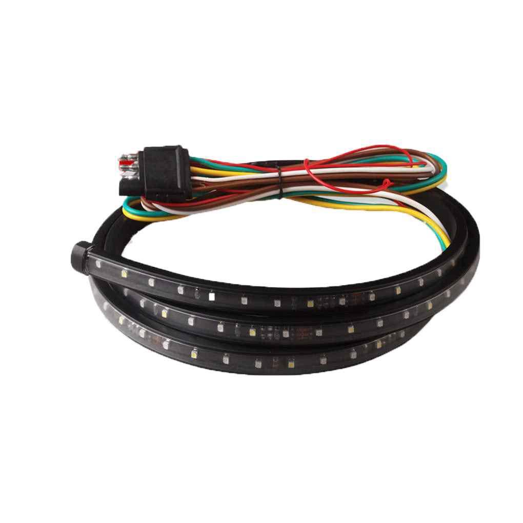 60 Pulgadas 5 función de reemplazo de Tira del LED de la Puerta Posterior Bar Reverse Freno luz de señal para el Carro SUVMengonee: Amazon.es: Coche y moto
