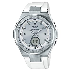51Icz SZC4L. SS300  - Ladies' Casio Baby-G G-MS White and Silver-Tone Watch MSGS200-7A