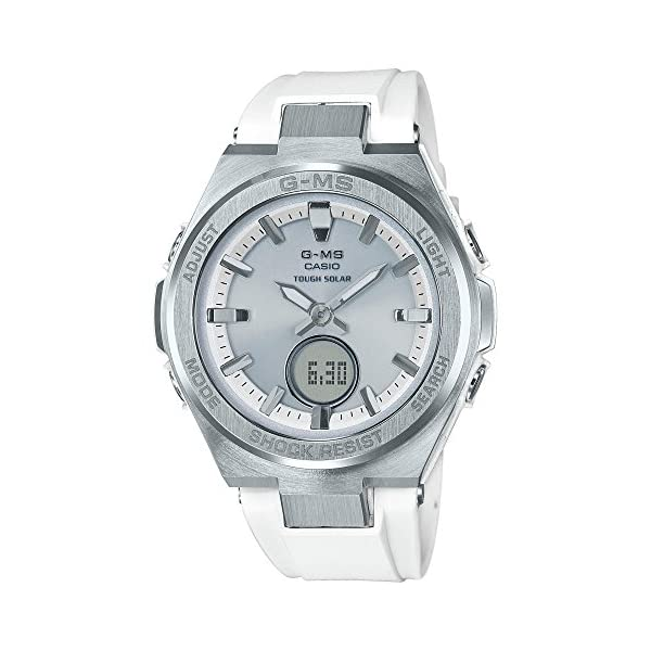 51Icz SZC4L. SS600  - Ladies' Casio Baby-G G-MS White and Silver-Tone Watch MSGS200-7A