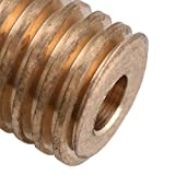 Mxfans 0.5 Modulus 0.4cm Hole Dia Brass Worm Gear