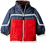 London Fog Baby Boys Active Heavyweight Jacket with Ski Cap, Super Green, 12M