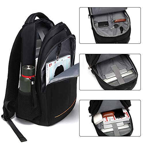 Modoker Laptop Backpack for Men Women, Anti-Theft Business Travel Backpacks College School Bookbag, Large Capacity Water Resistant Computer Bag with USB Charging Port Fits 15.6 inch Laptop