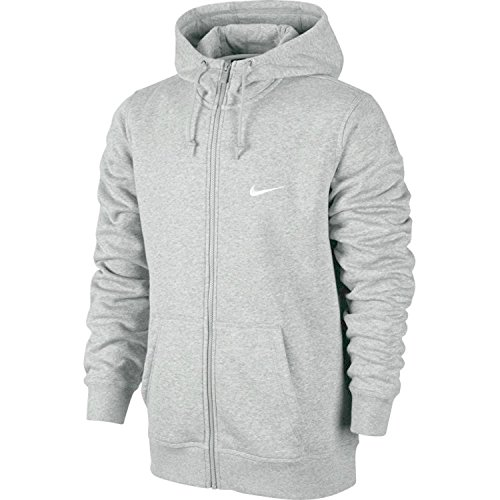 Nike Club Full Zip Mens Hoodie 823531-010/063 (L, Grey)