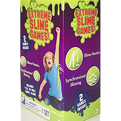 Extreme Slime Games! 2 Games Inside! Choose From Different Box Set Games! It's Always Time For Slime! Ages 5+! (Slime-Nastics & Synchronized Sliming!): Toys & Games