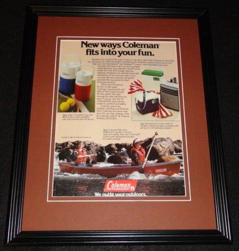 1985 Coleman Coolers 11x14 Framed ORIGINAL Vintage Advertisement