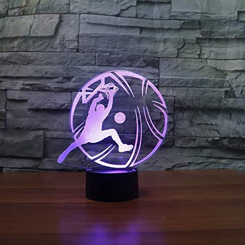 3D USB Kreative Bunte Neuheit Gradient Basketball Tischlampe Nachtlicht Party Sport Schlafzimmer Dekor Schlaf Beleuchtung