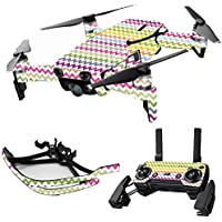 MightySkins Skin for DJI Mavic Air Drone - Rainbow Chevron | Max Combo Protective, Durable, and Unique Vinyl Decal wrap cover | Easy To Apply, Remove, and Change Styles | Made in the USA