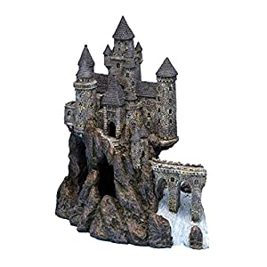 Penn Plax Castle Aquarium Decoration Hand Painted with Realistic Details Over 14.5 Inches High Part A 86