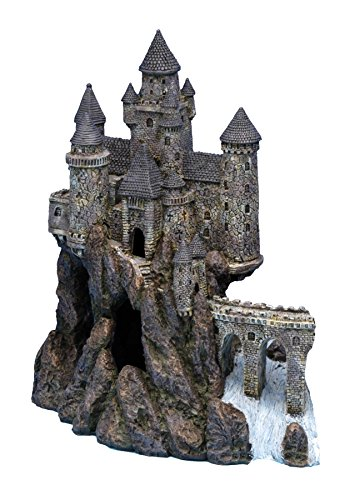 Penn Plax Castle Aquarium Decoration Hand Painted with Realistic Details Over 14.5 Inches High Part A ()