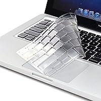 Microcase Macbook Pro 15 inch Touch Bar için Klavye Koruma Silikonu, SAYDAM