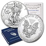 2020 1 oz Silver American Eagle BU (w/Box & COA) By CoinFolio $1 Brilliant Uncirculated