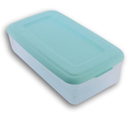 Amazoncom Sterilite 6 Quart Storage Bin Shoe Box Clear and Mint