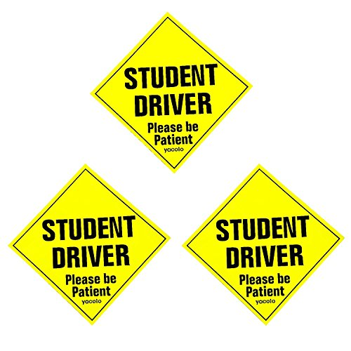 Set-of-3-Please-Be-Patient-Student-Driver-Safety-Sign-Vehicle-Bumper-Magnet-Reflective-Vehicle-Car-Sign-Sticker-Bumper-for-New-Drivers