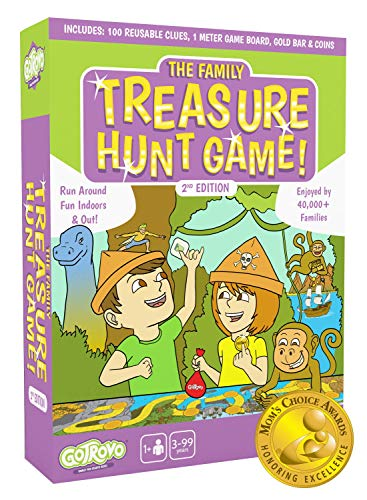Gotrovo Treasure Hunt Game - Fun Scavenger Hunt for Kids of All Ages - Versatile Indoor, Outdoor, Camping, Party Game - Play at Home, in The Garden or Anywhere - MOM'S Choice Award Winner