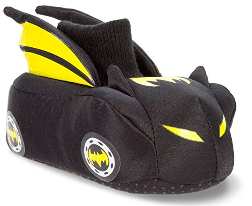 Youth Batman Costumes (Batman Batmobile Toddler Little Kid Sock Top Slippers (X-Large / 11-12 M US Little Kid, Black/Yellow))