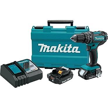 Makita XPH10R 18V Compact Lithium-Ion Cordless Hammer Driver-Drill Kit (2 Amp), 1/2