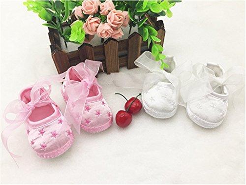 ElecMotive 3-12 Monate Taufschuhe Baby Schuhe Sandalen Taufe Mädchen Lauflernschuhe Taufschühchen (Weiße) Weiße