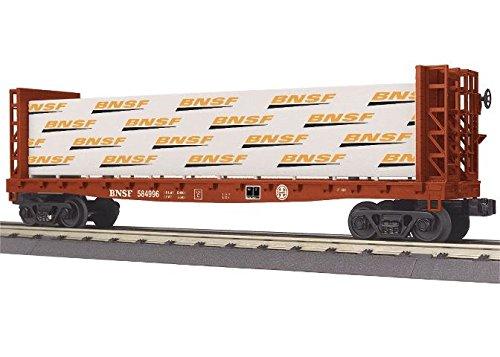 MTH MTH3076647 O-27 Bulkhead Flat w/Lumber Load, BNSF