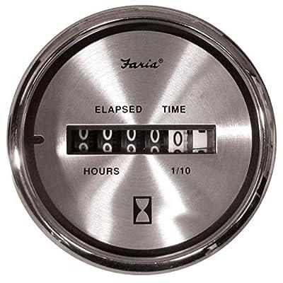 Faria 16020 Hourmeter Spun Silver: Automotive