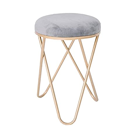 Peachy Amazon Com Ao Stools Round Pouffe Ottoman Bench With Metal Gmtry Best Dining Table And Chair Ideas Images Gmtryco